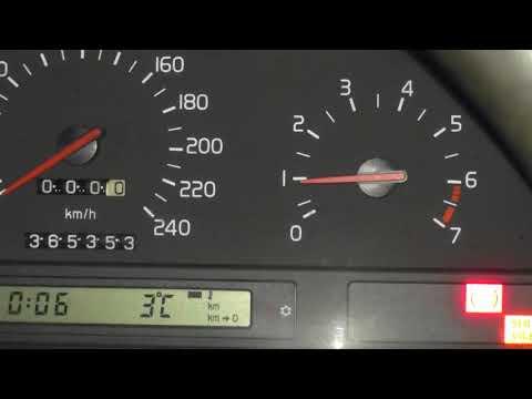Volvo 850 - сбросил клемму и поставил ДАД назад. пока работает ровно