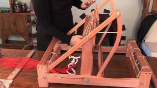 getlinkyoutube.com-How to put a warp on your table loom Pt 1