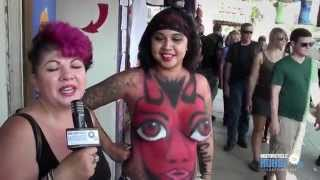 getlinkyoutube.com-Body Paint on the Street at Sturgis 2014