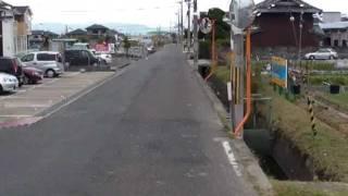 トレーラーの車窓 コンテナ輸送の現場6 住宅街に進入2