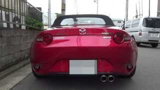 getlinkyoutube.com-MAZDA ND ROADSTER SURUGA SPEED PFS LOOP SOUND MUFFLER