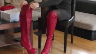 getlinkyoutube.com-Danielas FashionCheck #022: Overknee-Stiefel/Kleid/Schminkkoffer (Boots/Dress/Vanity Case)