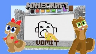getlinkyoutube.com-MINECRAFT - SQUiRRREL and SQUIRRRELETTE play DRAW MY THING MINI GAME