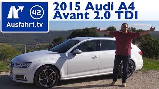 getlinkyoutube.com-2015 Audi A4 Avant 2.0 TDI (B9) - Fahrbericht der Probefahrt, Test, Review (German)