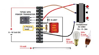 How to Make Simple DC to AC Inverter. ᴴᴰ