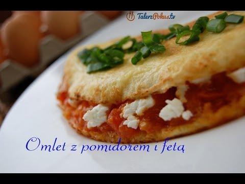 Omlet z pomidorem i fetą