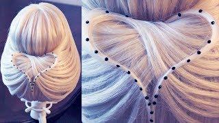 "getlinkyoutube.com-Hairstyle for long hair - Причёска - ""Крылатое сердце"" - Hairstyles by REM"