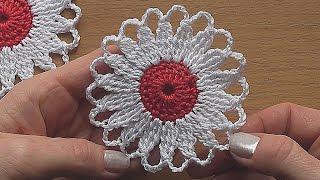 getlinkyoutube.com-CROCHET Flower Motif Easy Tutorial