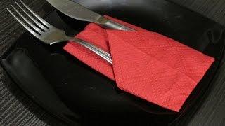 getlinkyoutube.com-Складываем салфетки к праздничному столу.Fold napkins for the holiday table.