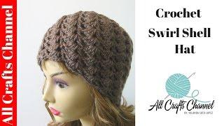 getlinkyoutube.com-How to crochet a swirl pattern beanie (Half shell stitch) - Con Subtítulos - Yolanda Soto Lopez