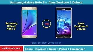 getlinkyoutube.com-Samsung Galaxy Note 5 vs Asus zenfone 2 Deluxe - Watch Full Comparison