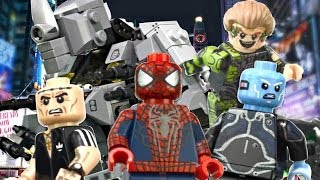 getlinkyoutube.com-LEGO Marvel : The Amazing Spider-Man 2 Minifigures - Showcase