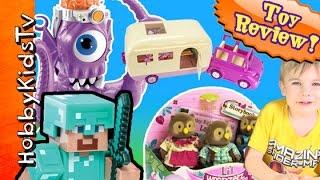 getlinkyoutube.com-Minecraft Steve Hijacks Camper + Creeper MONSTER Li'l Woodzeez by HobbyKidsTV