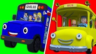 getlinkyoutube.com-Wheels On the Bus Go Round and Round | Nursery Rhymes