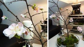 getlinkyoutube.com-DIY: Deko für den Tisch mit selbst gebasteltem Kirschblütenzweig | Deko Kitchen