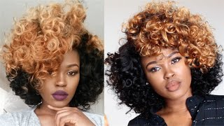 DIY| Two Tone Curly Fro