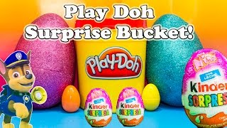 getlinkyoutube.com-PLAY DOH SURPRISE BUCKET Giant Surprise Eggs  Surprise Bucket Surprise Toys Video