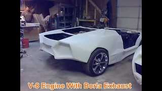 getlinkyoutube.com-Lamborghini Replicas - Testing V6 and V8 Chassis and Compare Exhaust Sound: Borla Muffler