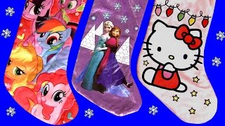 getlinkyoutube.com-STOCKINGS SURPRISE Christmas Lalaloopsy MyLittlePony Disney Frozen PlayDough Fashems MonsterHigh