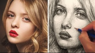 getlinkyoutube.com-How to Draw a Pretty Face with Pencil