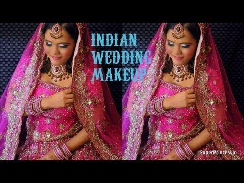 Indian Pakistani Wedding MAKEUP Party Makeup Tutorial :PINK AND GOLDEN EYES