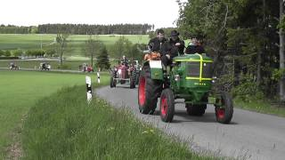alte Traktoren, Geroldsgrün, Oldtimer Traktortreffen 17.5.2015, Rundfahrt