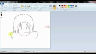 getlinkyoutube.com-tutorial- como aprender a dibujar a itachi uchiha en paint..