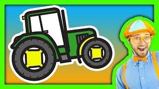 getlinkyoutube.com-Tractor Song for Children with Blippi