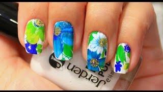 getlinkyoutube.com-◄ Слайдер - дизайн для ногтей ► Nail Art ◄ Водные наклейки ►