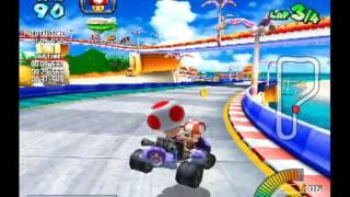 "getlinkyoutube.com-Mario Kart Arcade GP - Mario Beach Reverse Time Trial - 02'01""230"