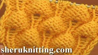 getlinkyoutube.com-Knitting Strawberry Stitch Pattern Tutorial 13 Knit Stitch Pattern Library