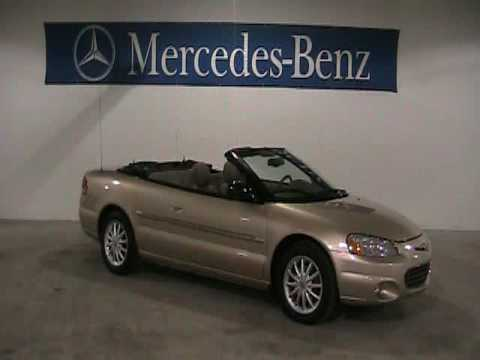 2001 chrysler sebring problems online manuals and repair for Mercedes benz of north olmsted service