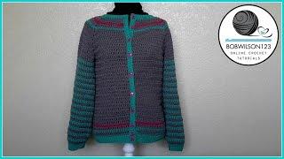 Adult Crochet Cardigan Part 1 of 3