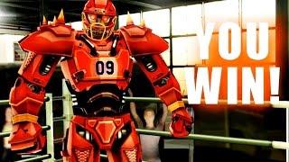 getlinkyoutube.com-Real Steel WRB The Gridiron Beast - Crusher VS UW II Series of fights NEW ROBOT (Живая Сталь)