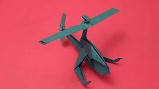 getlinkyoutube.com-How to make a cool paper helicopter origami: instruction| Mosquito Helicopter