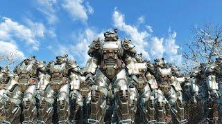 Fallout 4 - BoS Army VS Deathclaws - NPC War