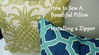 getlinkyoutube.com-How to Sew a Pillow: Installing a Zipper