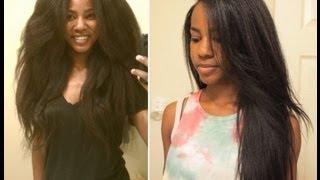 getlinkyoutube.com-How I Straighten My (Transitioning) Hair