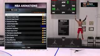 NBA 2K16 99 Overall Point God | Signature Styles and NBA Animations | My Player