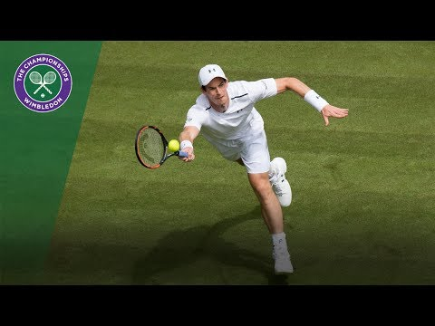 Andy Murray forehand winner - Wimbledon 2017 first round