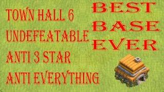 getlinkyoutube.com-BEST TOWN HALL 6 (TH6) WAR BASE 2016 | ANTI 3 STAR | ANTI GIANTS | ANTI HEALER | ANTI AIR #4