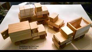 getlinkyoutube.com-Wood Toy Plans - Table Saw - Four Easy To Make Trucks