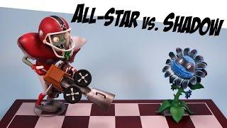 getlinkyoutube.com-Plants vs. Zombies Garden Warfare All-Star vs Shadow Flower Diamond Select Toys