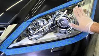 getlinkyoutube.com-العناية بالسيارات - تلميع وتنظيف الأنوار الاماميه ( الشمعات )