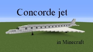 getlinkyoutube.com-How to build the Concorde jet in Minecraft