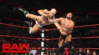 getlinkyoutube.com-Cesaro vs. Rusev - United States Championship Match: Raw, Aug. 8, 2016