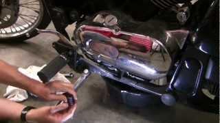 getlinkyoutube.com-How to change motorcycle oil,  Kawasaki Vulcan