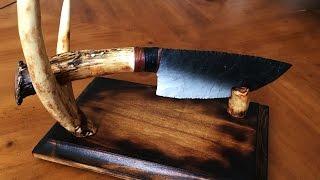 getlinkyoutube.com-Flintknapping - Primitive Knife / Antler Stand Construction Demo