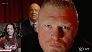 getlinkyoutube.com-WWE Raw 2/20/17 Brock Lesnar up close and PERSONAL