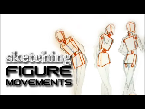 Fashion Design Drawing Lesson # 6: Geometric sketch- structuring the figure and its movements